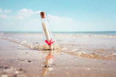 message in a bottle - allowing project